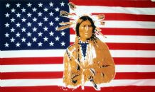 USA RED INDIAN - 5 X 3 FLAG